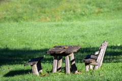 Romantic picnic place. Royalty Free Stock Images
