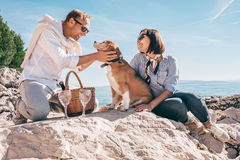Romantic picnick on the sea side Royalty Free Stock Photography