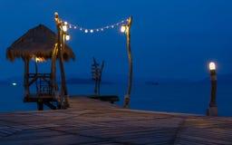 Romantic Pier Stock Images