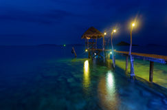 Romantic pier in Thailand Stock Photography