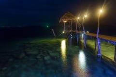 Romantic pier in Thailand royalty free stock photos