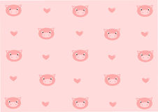 Romantic pig background Royalty Free Stock Photos