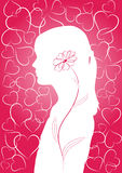 Romantic pink background Stock Images