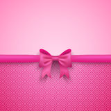 Romantic  pink background with cute bow and Royalty Free Stock Photo