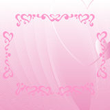 Romantic pink background with ornate elements Stock Images