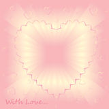 Romantic pink bakground With Love Stock Images