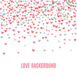 Romantic pink and blue heart background. illustration Stock Photos
