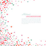 Romantic pink and blue heart background. Vector illustration Royalty Free Stock Photos