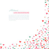 Romantic pink and blue heart background. Vector illustration Royalty Free Stock Images