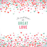 Romantic pink and blue heart background. Vector illustration Stock Image
