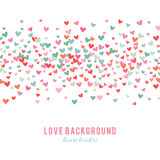 Romantic pink and blue heart background. Vector illustration Royalty Free Stock Photo
