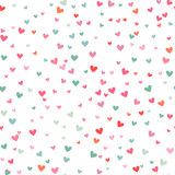 Romantic pink and blue heart pattern. Vector illustration Royalty Free Stock Photography