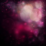 Romantic pink bokeh background. Pink bokeh background with defocused lights Royalty Free Stock Images