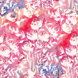 Romantic Pink Floral seamless Pattern. Royalty Free Stock Photos