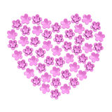 Romantic pink flower heart, 3d Stock Photos