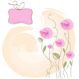 Romantic pink flowers background Stock Photography