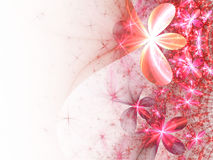 Romantic pink fractal flowers Royalty Free Stock Photo