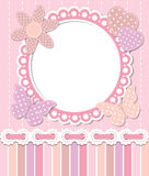 Romantic pink frame. Editable vector background Stock Image