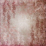 Romantic Pink Garden. A multi-layered, rich textured background for scrapbooking and design Stock Photography