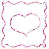 Romantic pink heart Stock Photo