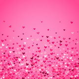 Romantic pink heart background. Vector illustration Stock Photo