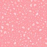 Romantic pink heart random seamless vector pattern Stock Photos