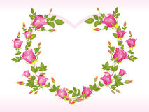 Romantic pink heart shape frame Stock Photography