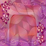 Romantic pink and purple semitransparent background with floral and leaf motif. Beautiful decoration for Valentine's day Stock Image