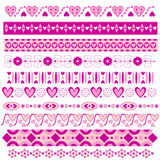 Romantic pink ribbon collection Royalty Free Stock Photography