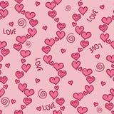 Romantic pink seamless pattern Stock Photography