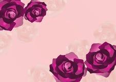 Rose background. Romantic pink textured rose background stock illustration