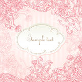 Romantic pink vector card design Royalty Free Stock Photo