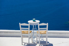 Romantic place in Santorini island in Greece Stock Images