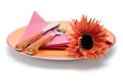 Romantic Place Setting Royalty Free Stock Photo