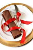 Romantic place setting Royalty Free Stock Images