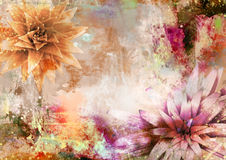Romantic and poetic background. Romantic poetic dirty background with plants Royalty Free Stock Photo