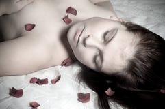 Romantic portrait stock photo
