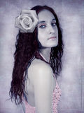 Romantic portrait royalty free stock image