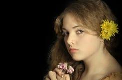 Romantic portrait. Of photografer older daughter Stock Image
