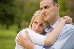 Romantic portrait of attractive young couple. Stock Image