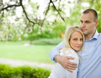Romantic portrait of attractive young couple. Royalty Free Stock Photo