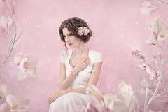Romantic portrait of bride Stock Photo
