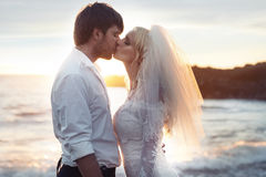 Romantic portrait of a couple in love Stock Images