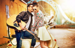 Romantic portrait of people in love Royalty Free Stock Photos