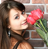 Romantic portrait of a pretty girl Royalty Free Stock Photos