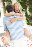 Romantic Portrait Of Senior Couple Embracing Royalty Free Stock Photo