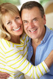 Romantic Portrait Of Senior Couple Indoors Royalty Free Stock Images
