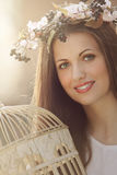 Romantic portrait Stock Images