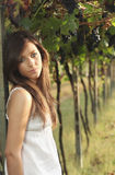Romantic portrait in a vineyard Royalty Free Stock Images