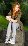 Romantic portrait of a young redhead. Royalty Free Stock Image